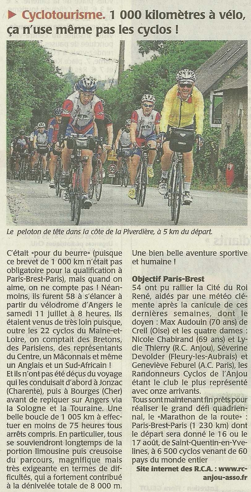 Article du Courrier de l'Ouest...