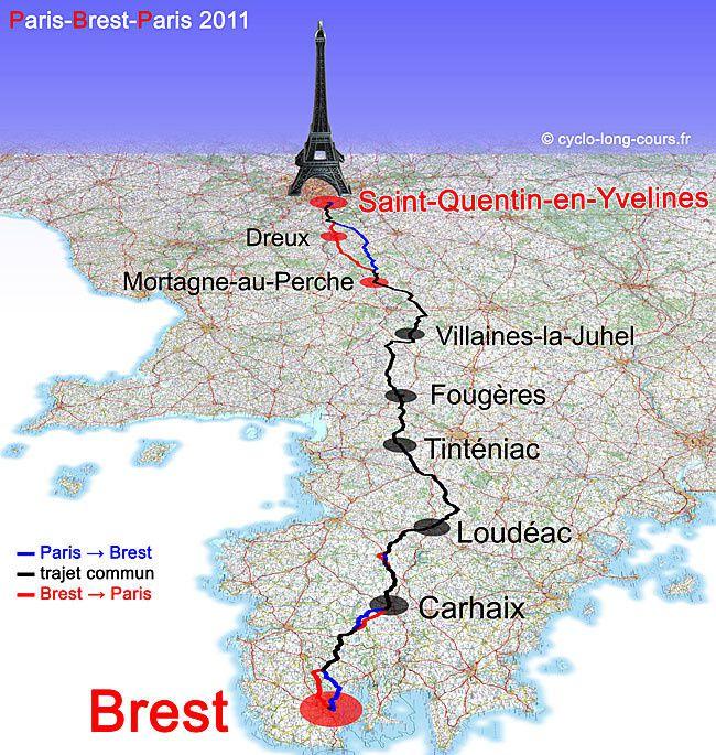 Carte du Paris-Brest-Paris 2015 avec les points de contrôle ! - http://cyclo-long-cours.fr/