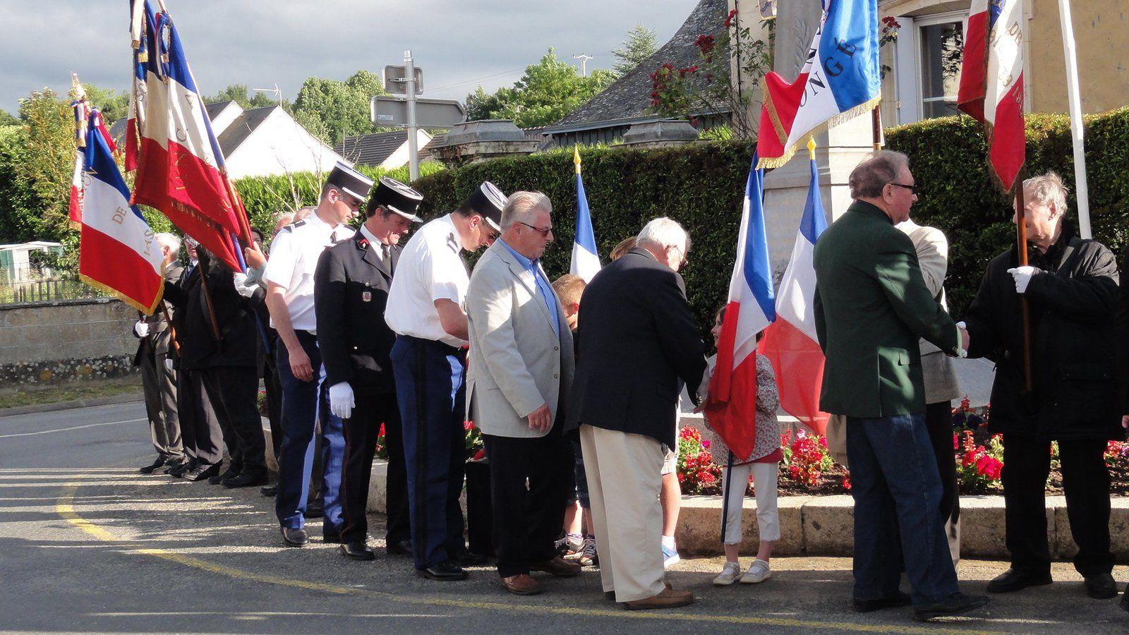 Cérémonie de l'appel du 18 JUIN 1940 à Coulongé.