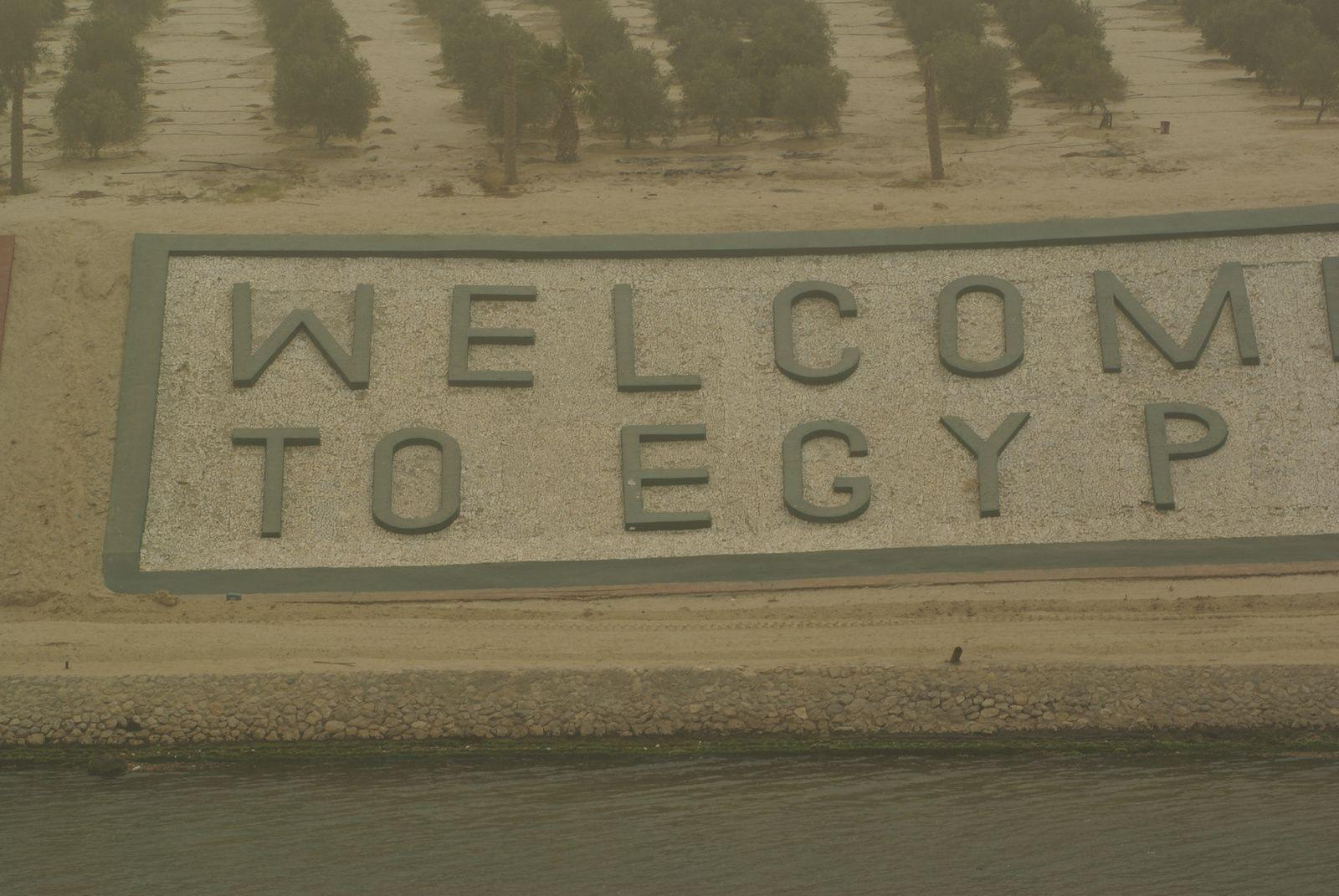 Le Canal de Suez en double voie , Août 2015.