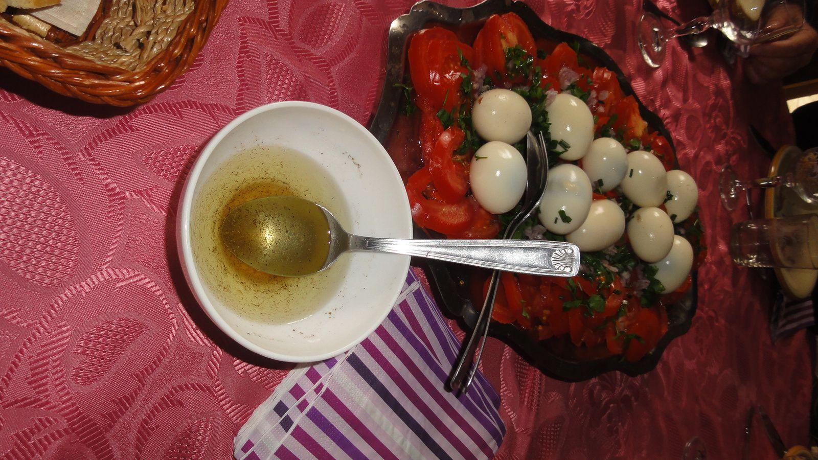 Le repas des retrouvailles chez la soeur de ma Dulcinée Eliette.