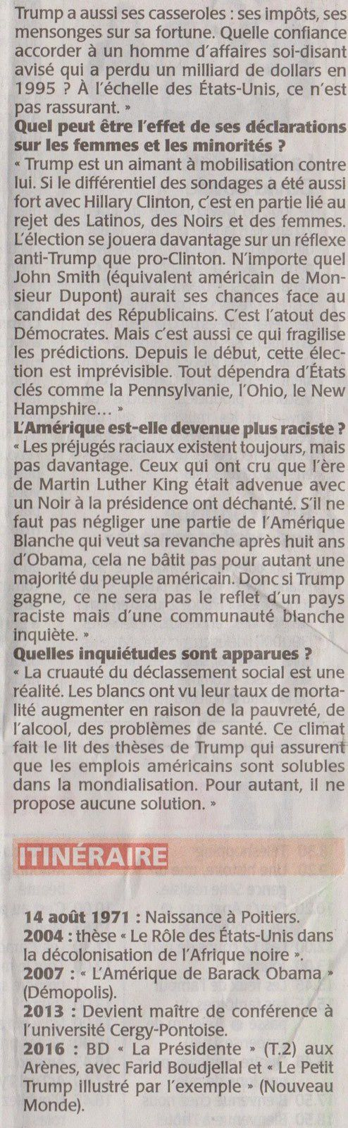 Les trois dernières photos de Monsieur François DURPAIRE ont été prises ce soir -07/11/2016 -à l'écran de mon téléviseur.