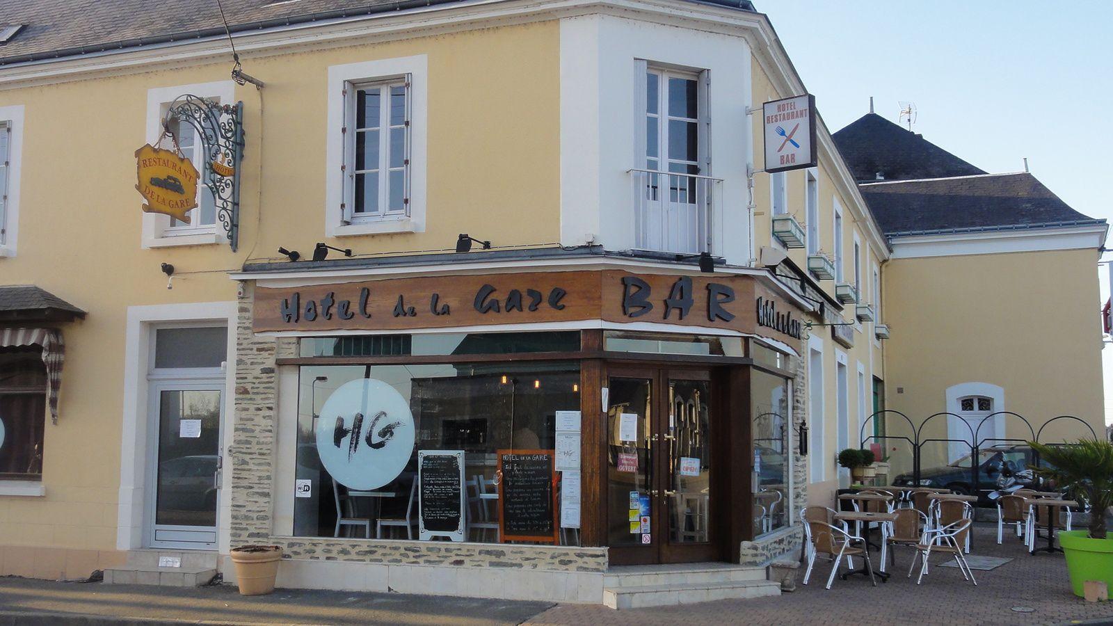 Le repas de fin de session APIC au restaurant de la gare à Château-du-Loir , le 6 AVRIL 2017.