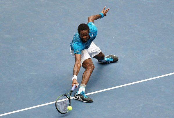 Gaël Monfils face à Novak Djokovic à New York / Getty/AFP