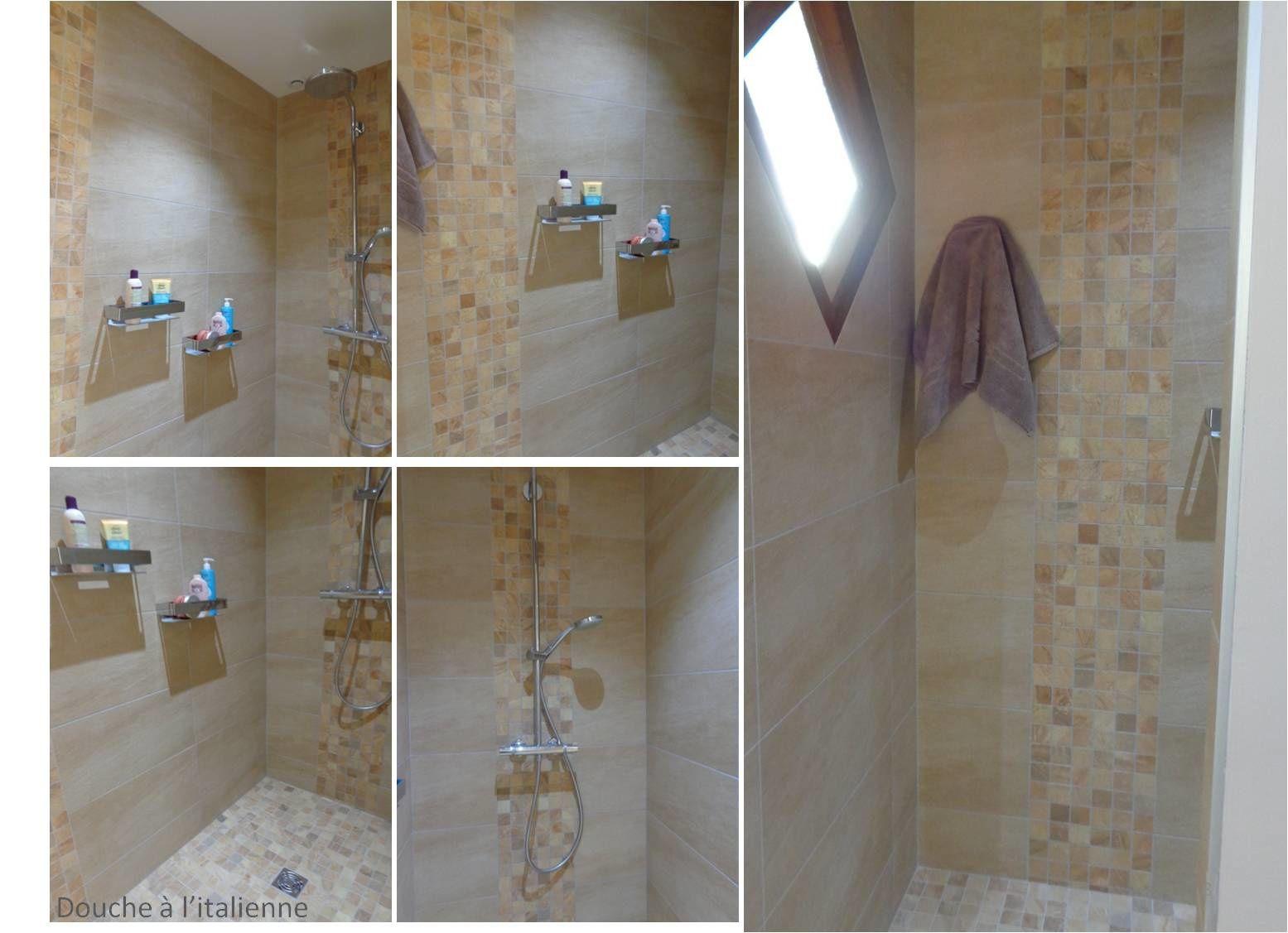 La salle d'eau apporte une note contemporaine