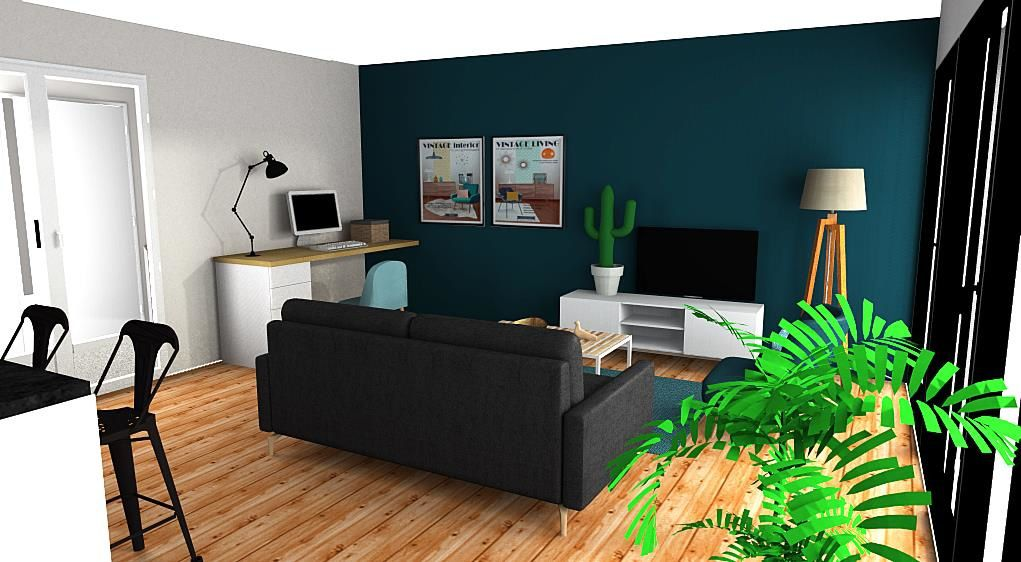 appartement en cours de renovation projet simulations 3d. Black Bedroom Furniture Sets. Home Design Ideas