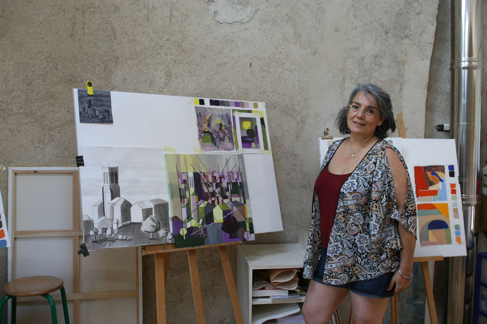 L'exposition de fin stage et la présentation du travail de la semaine aux visiteurs.