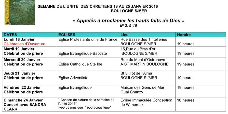 programme janvier 2016