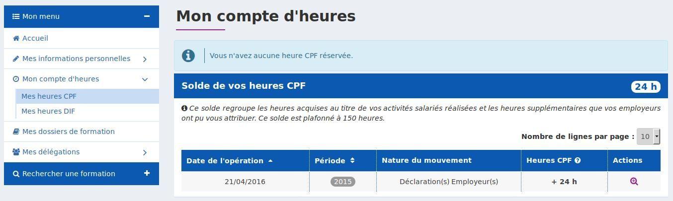 Solde CPF