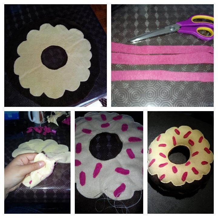 DIY coussin donuts