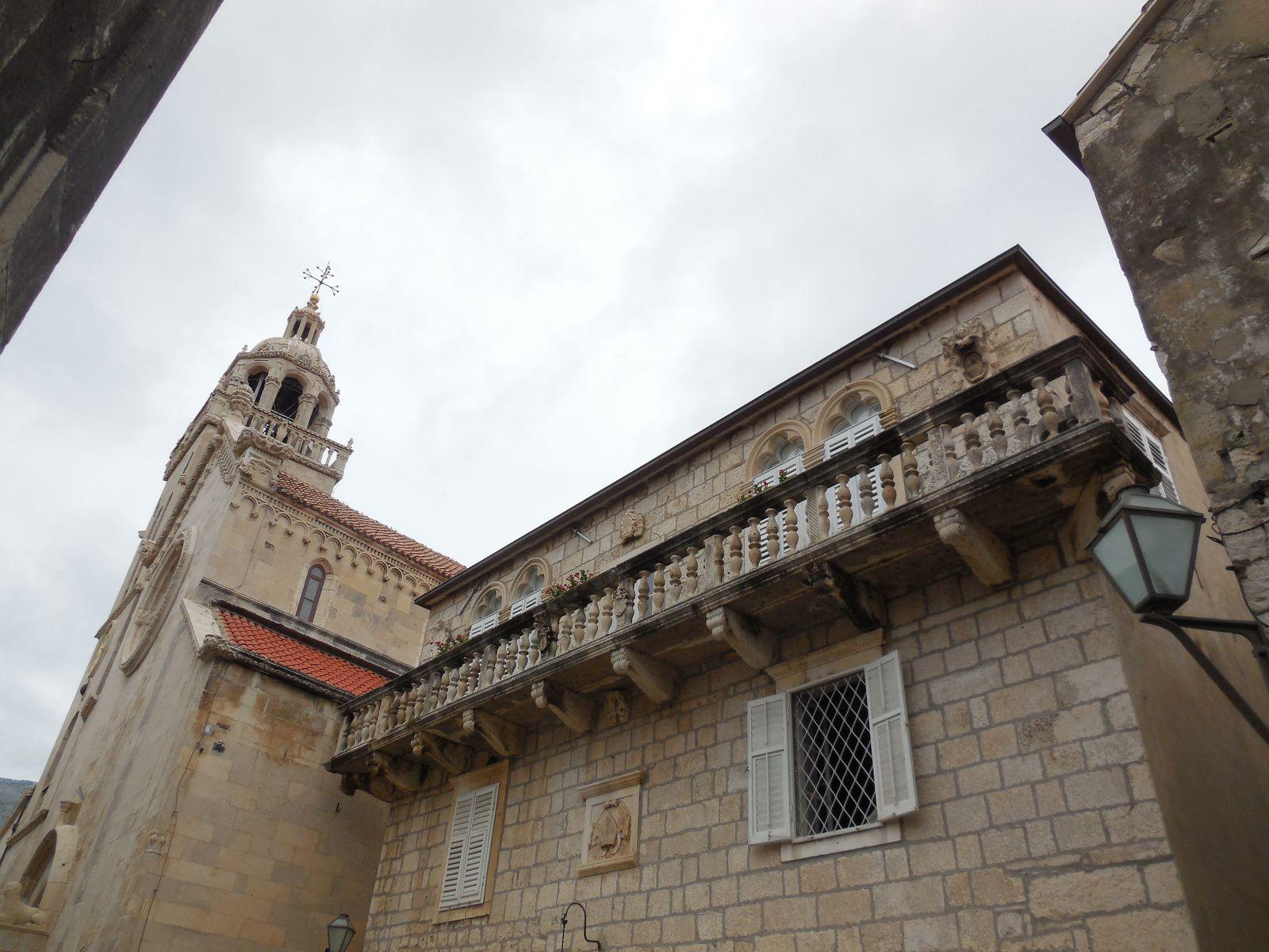 Clocher de la cathédrale St Marc. Cathédrale du XVème siècle dans un style mêlant Gothique et Renaissance