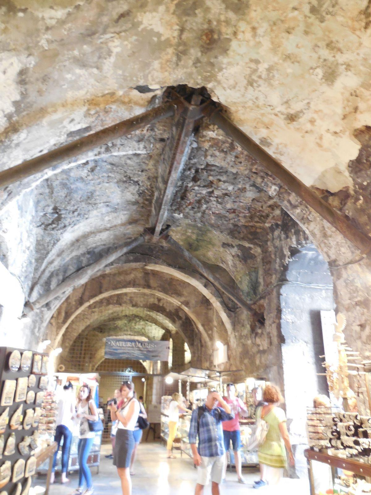 Entrée par une des 4 portes du palais. (Or, Bronze, Argent et Fer). Ici, la porte de Bronze qui donne sur les souterrains.
