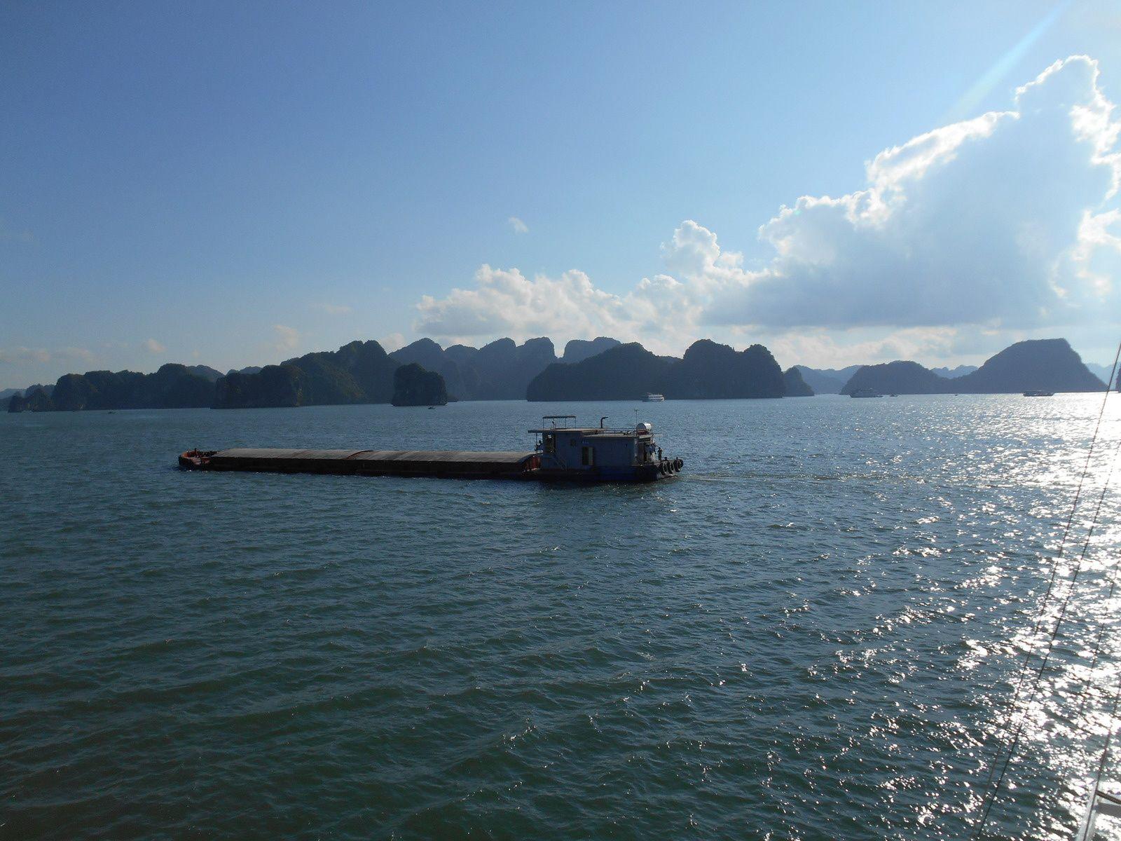 ainsi que des barges charbonnières.