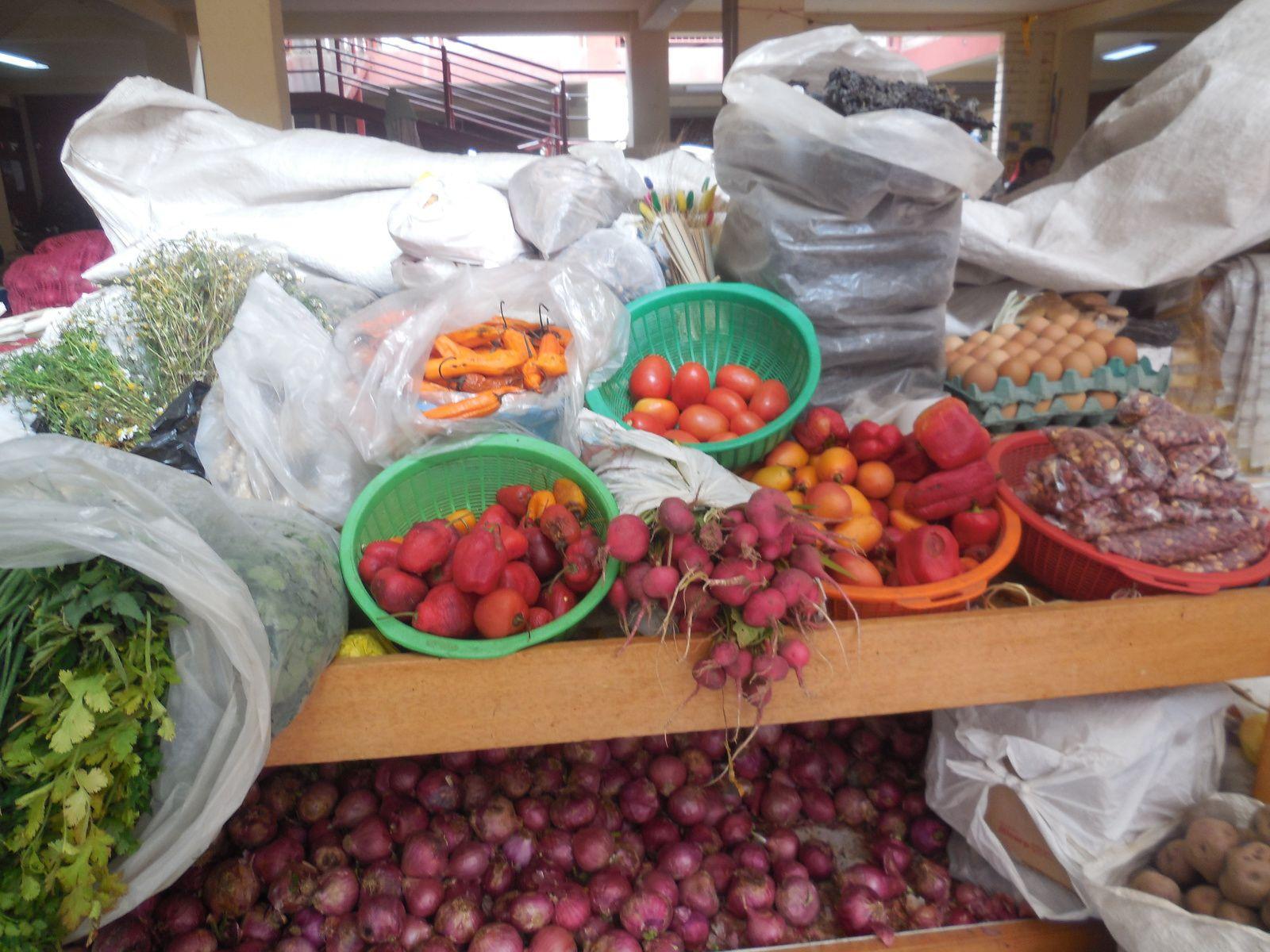 Toutes sortes de légumes, viandes, poissons...