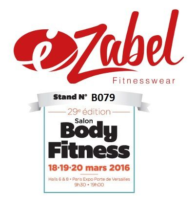 ezabel-fitnesswear au salon Body Fitness 2016 - Paris Porte de Versailles