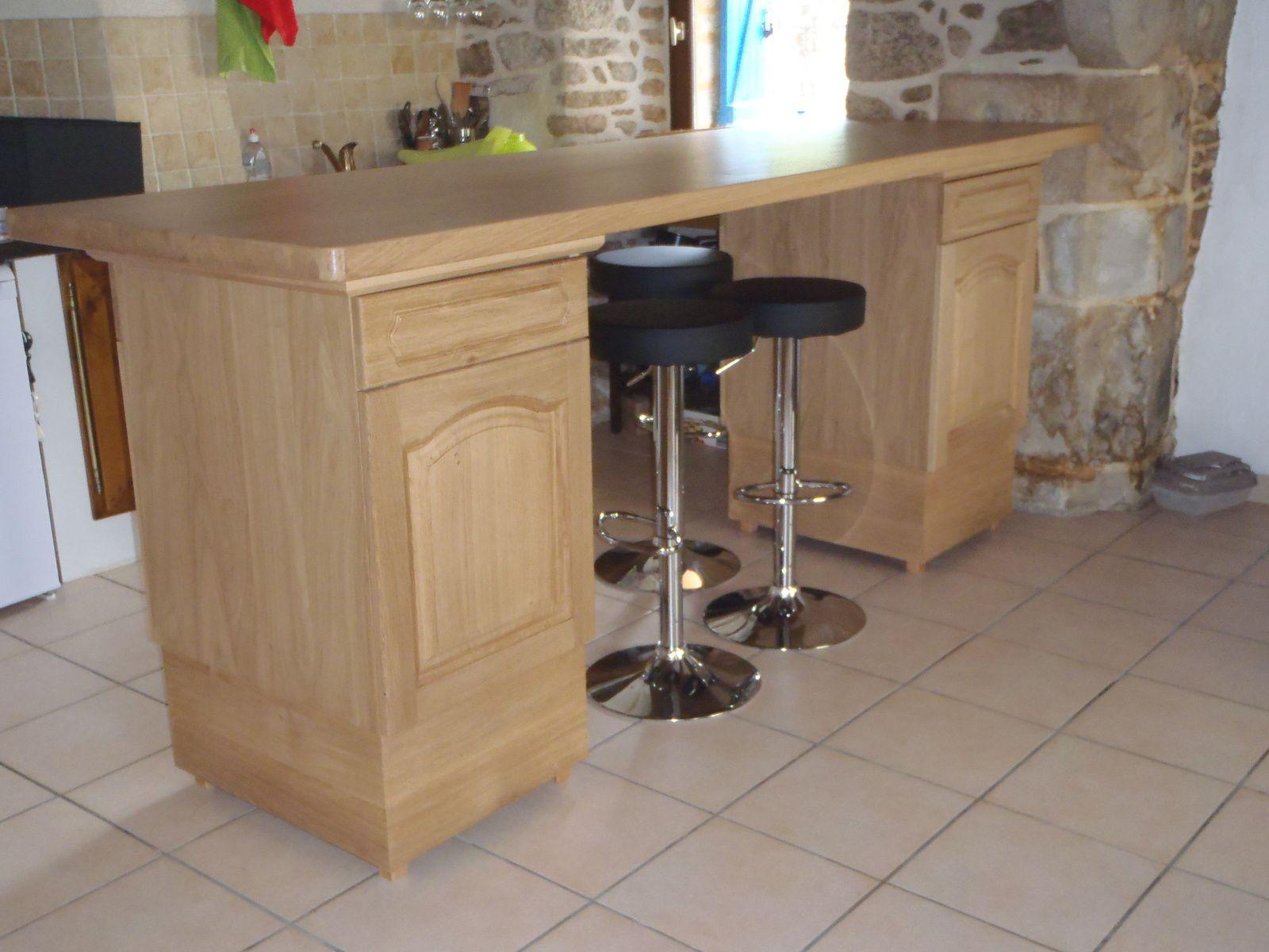 R alisation d 39 un meuble bar dans une cuisine ouverte for Meuble bar cuisine ouverte