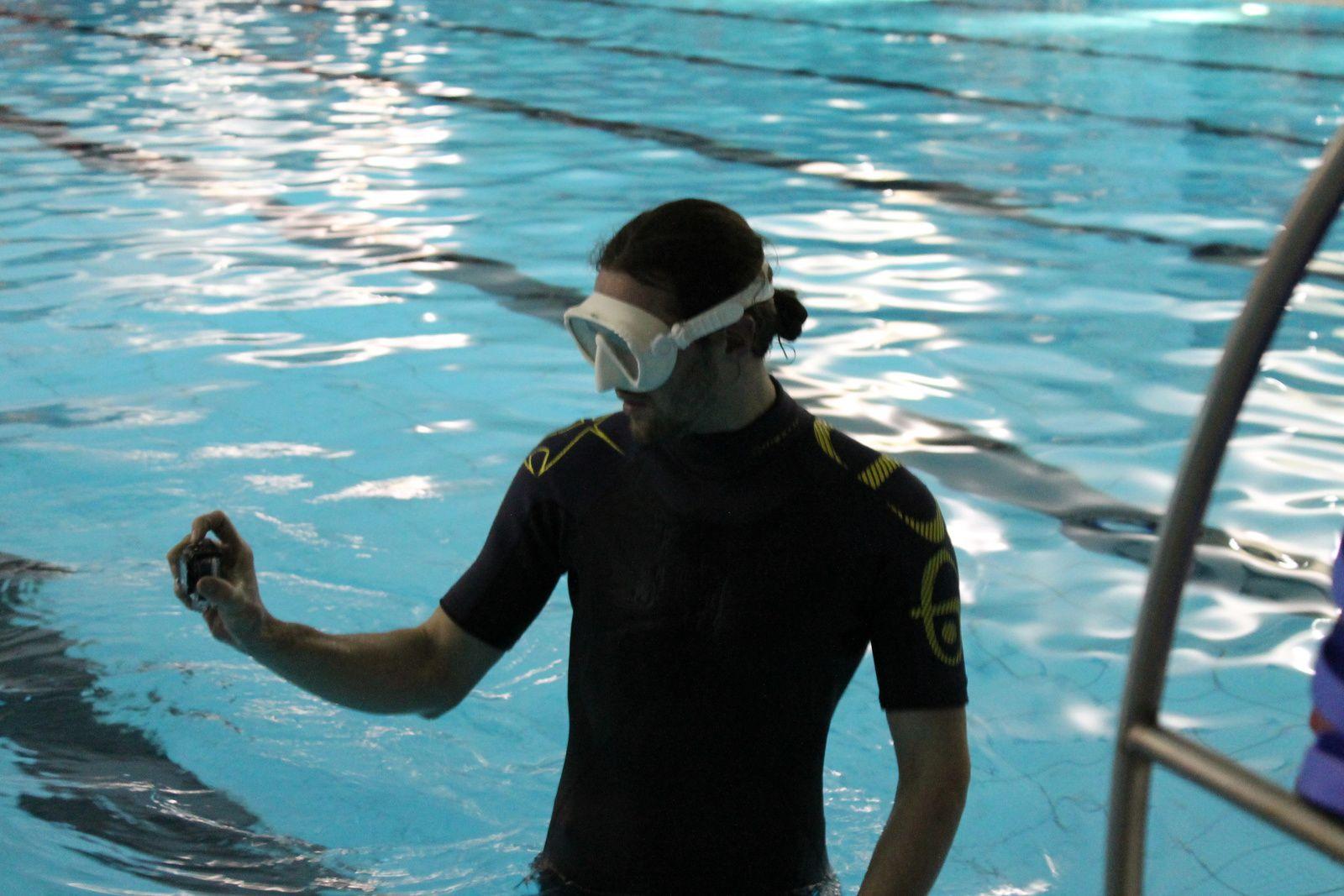 The freediver-film-maker :-) (Photo by Tony De Wilde).
