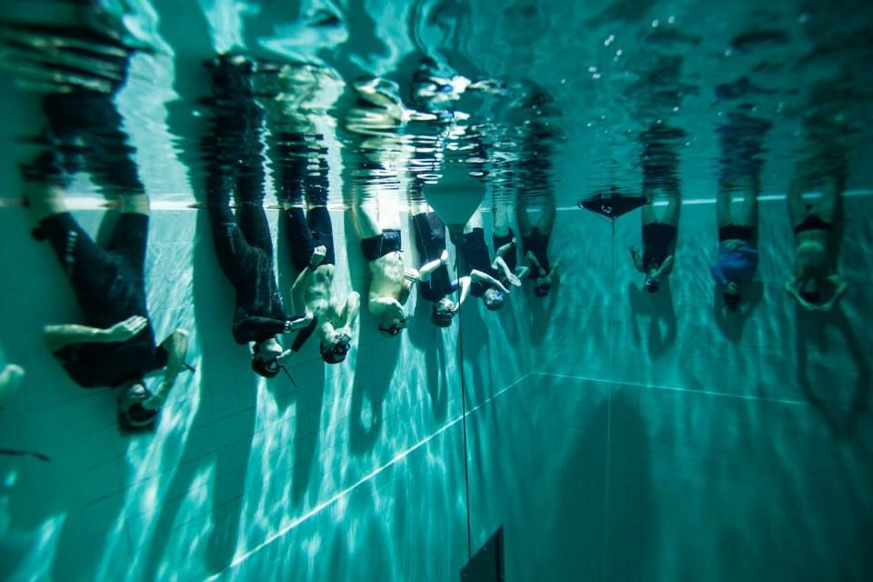 Pool excercices...view from below the surface...(Photo by Giampiero Genovese).