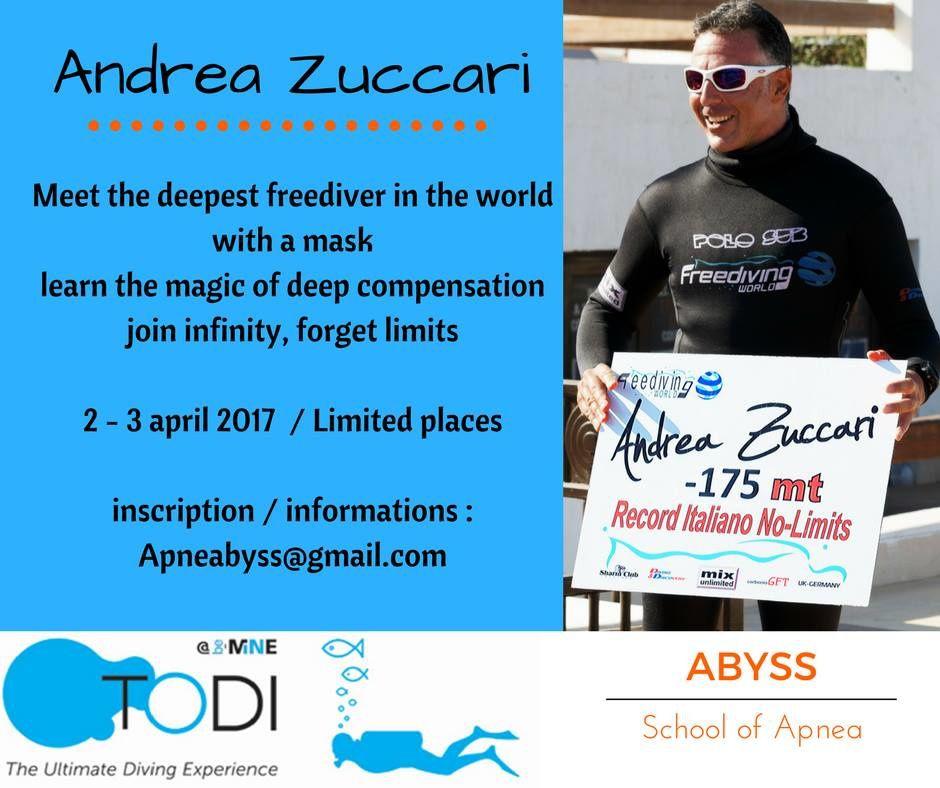Andrea Zuccari à TODI avec Abyss Apnea!