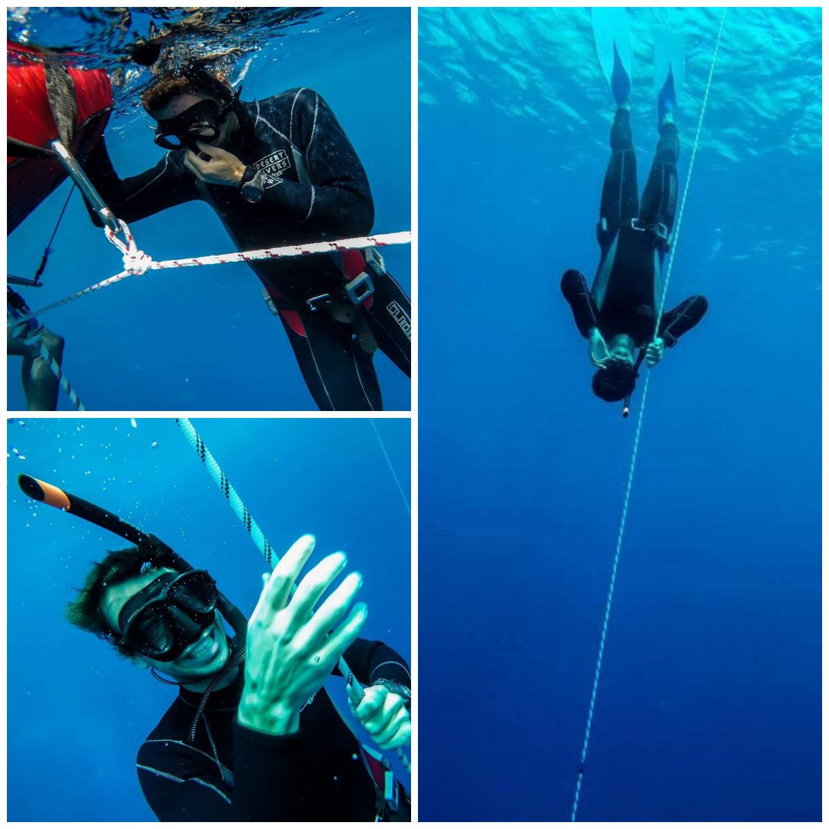 Quentin doing his first dives! - Photos by Peter Wydmuch