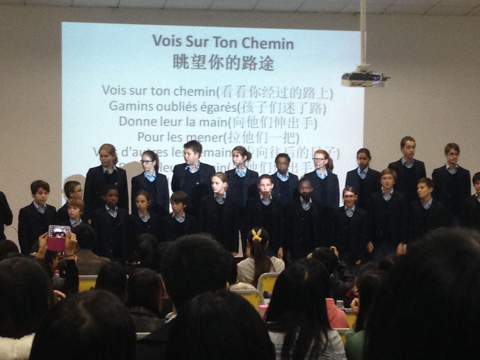 &quot&#x3B;Les Choristes&quot&#x3B; à l'Alliance de Wuhan