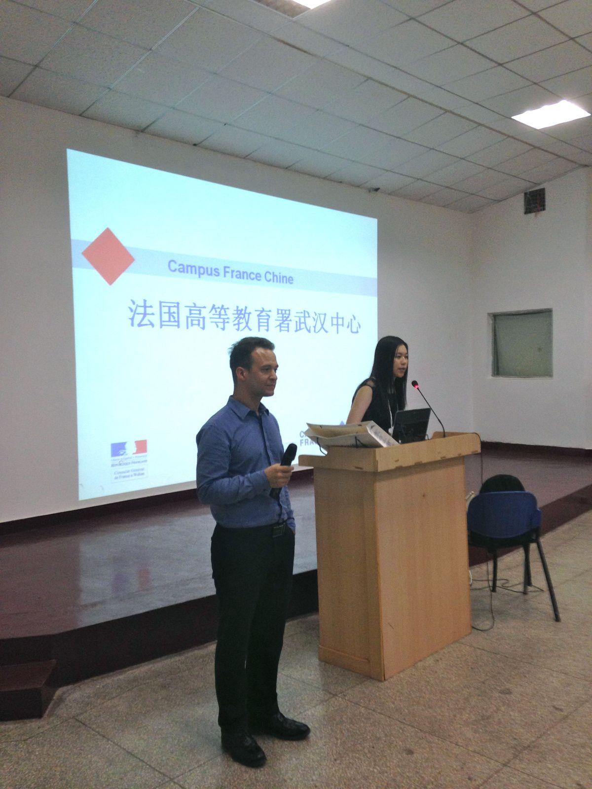 Nouveau Corner Campus France à l'Alliance de Wuchang