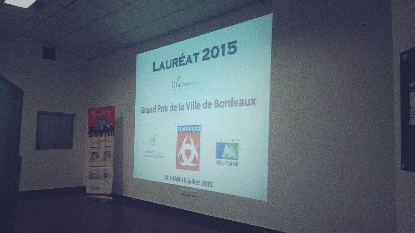 Remise du Grand Prix de la Ville de Bordeaux 2015 à Alice