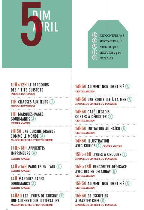 Programme de la 27e Fête du Livre, les 4, 5 et 6 avril 2015