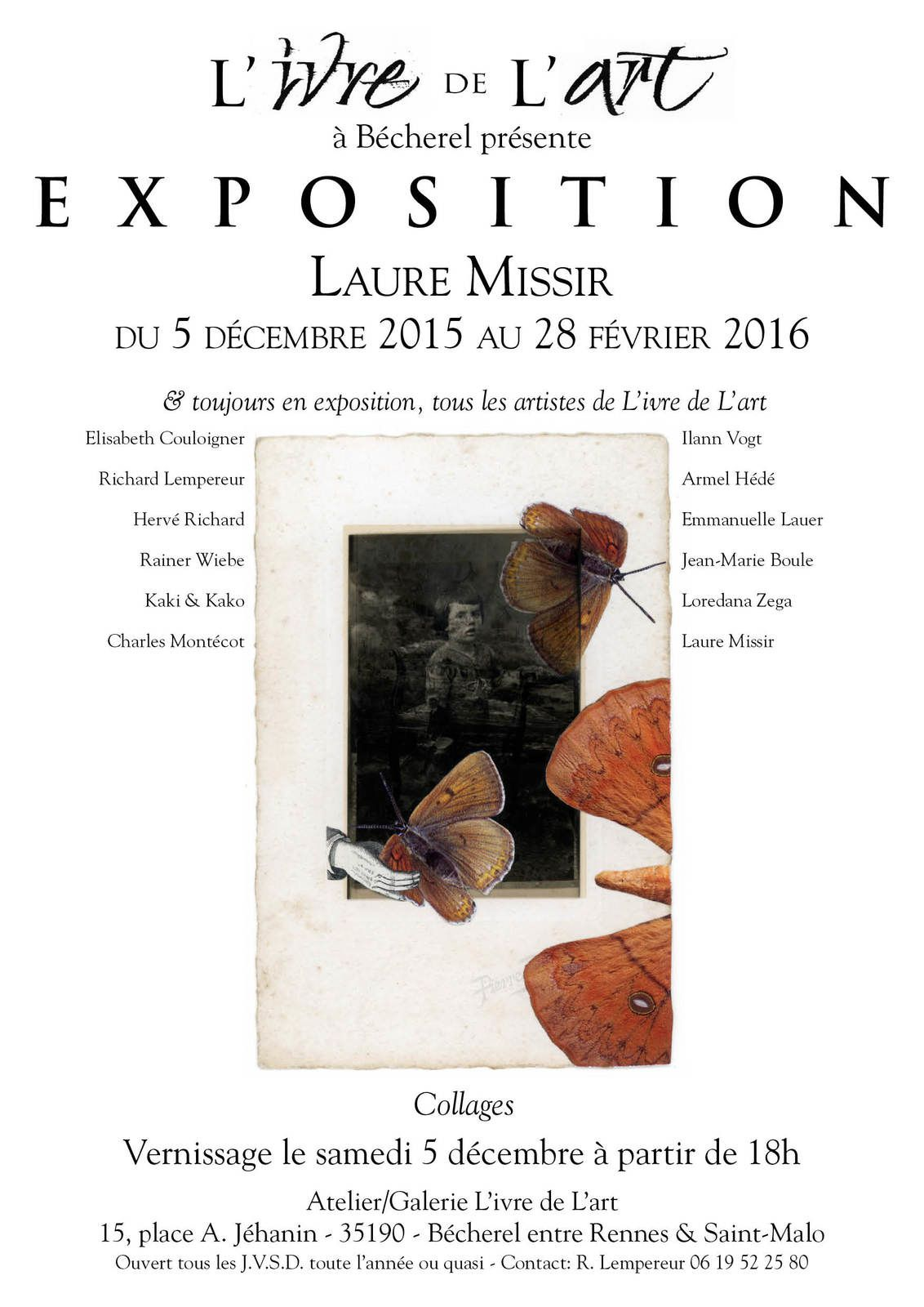 Atelier L'Ivre de l'Art : exposition des collages de Laure Missir