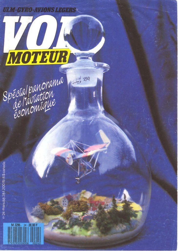 Vol moteur 24 mai 1988.   Ulm, par Philippe Tisserand.