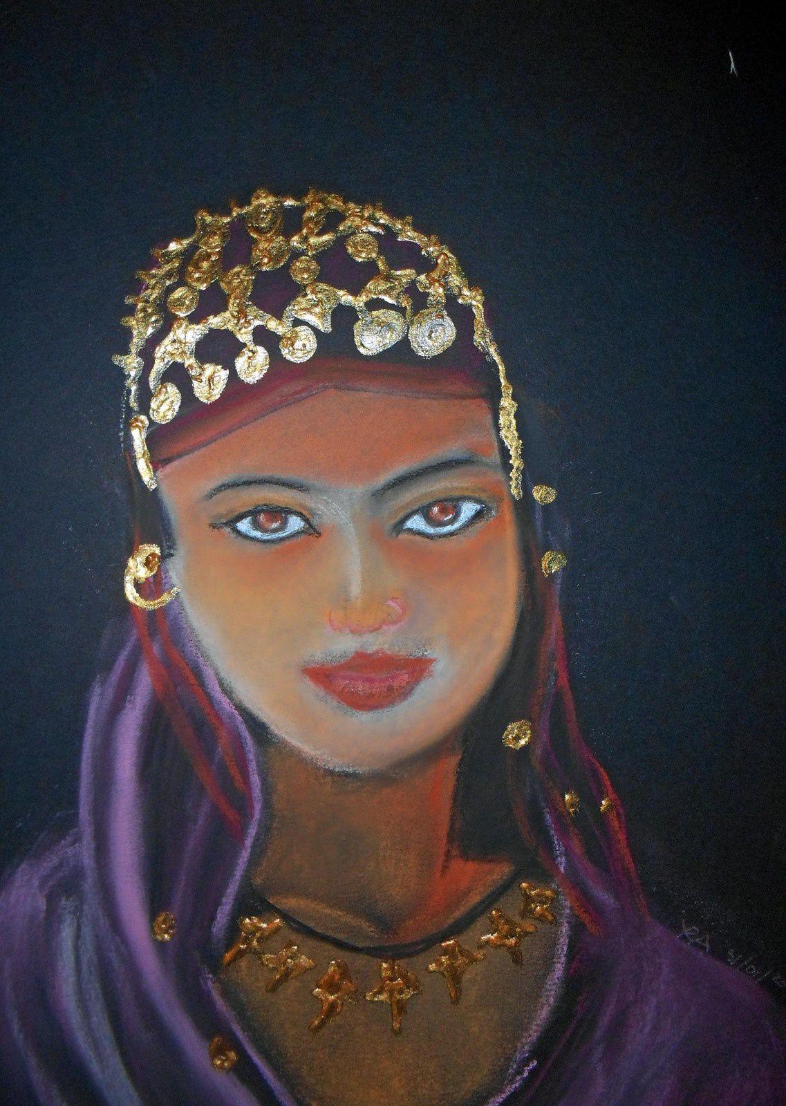 jeune Malienne  (pastel)