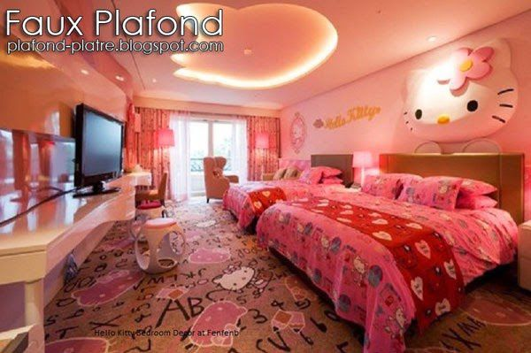 plafond pour chambre des filles faux plafond design et d co. Black Bedroom Furniture Sets. Home Design Ideas