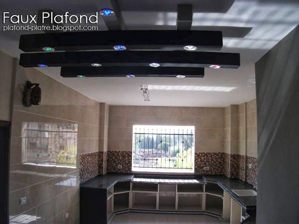 Decoration faux plafond cuisine for Plafond suspendu cuisine