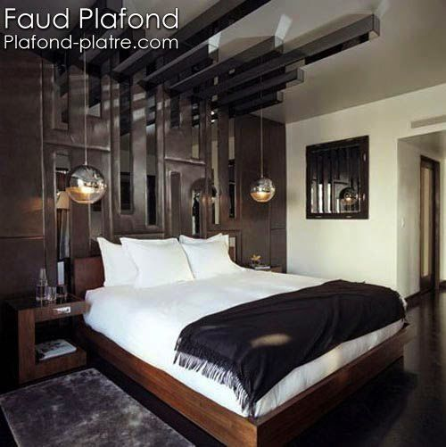 design int rieur chambre coucher faux plafond design et d co. Black Bedroom Furniture Sets. Home Design Ideas