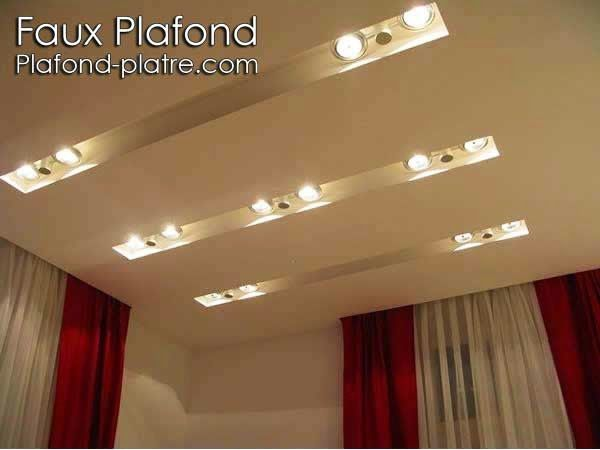 Faux plafond chambre coucher beautiful installer sa for Comment faire un faux plafond design