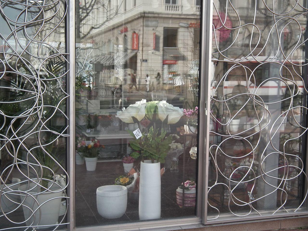 Reflets et vitrines