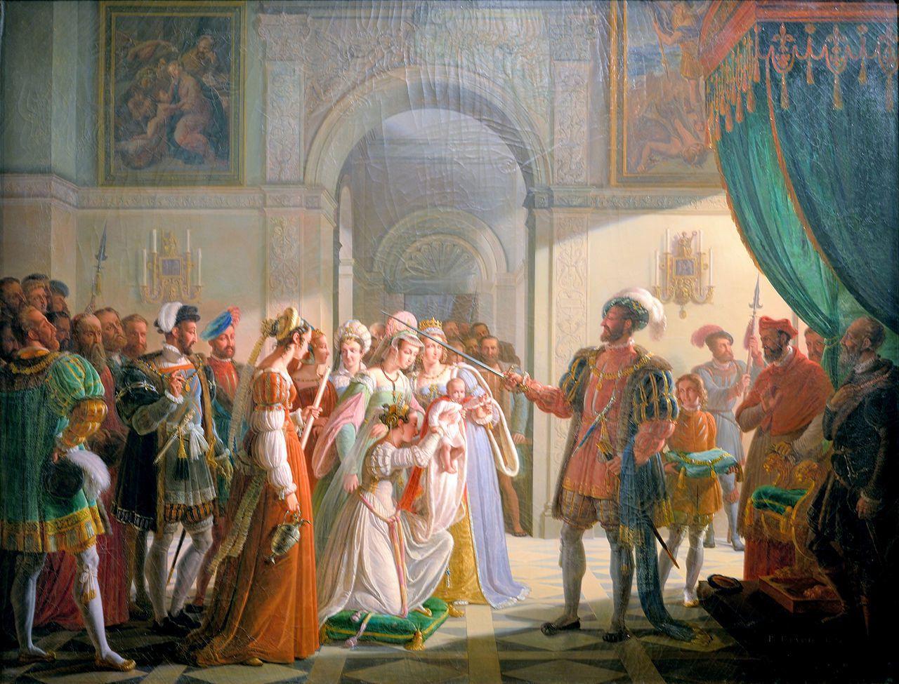 François 1er armant son petit fils François II. Musée des Beaux-Arts Lyon