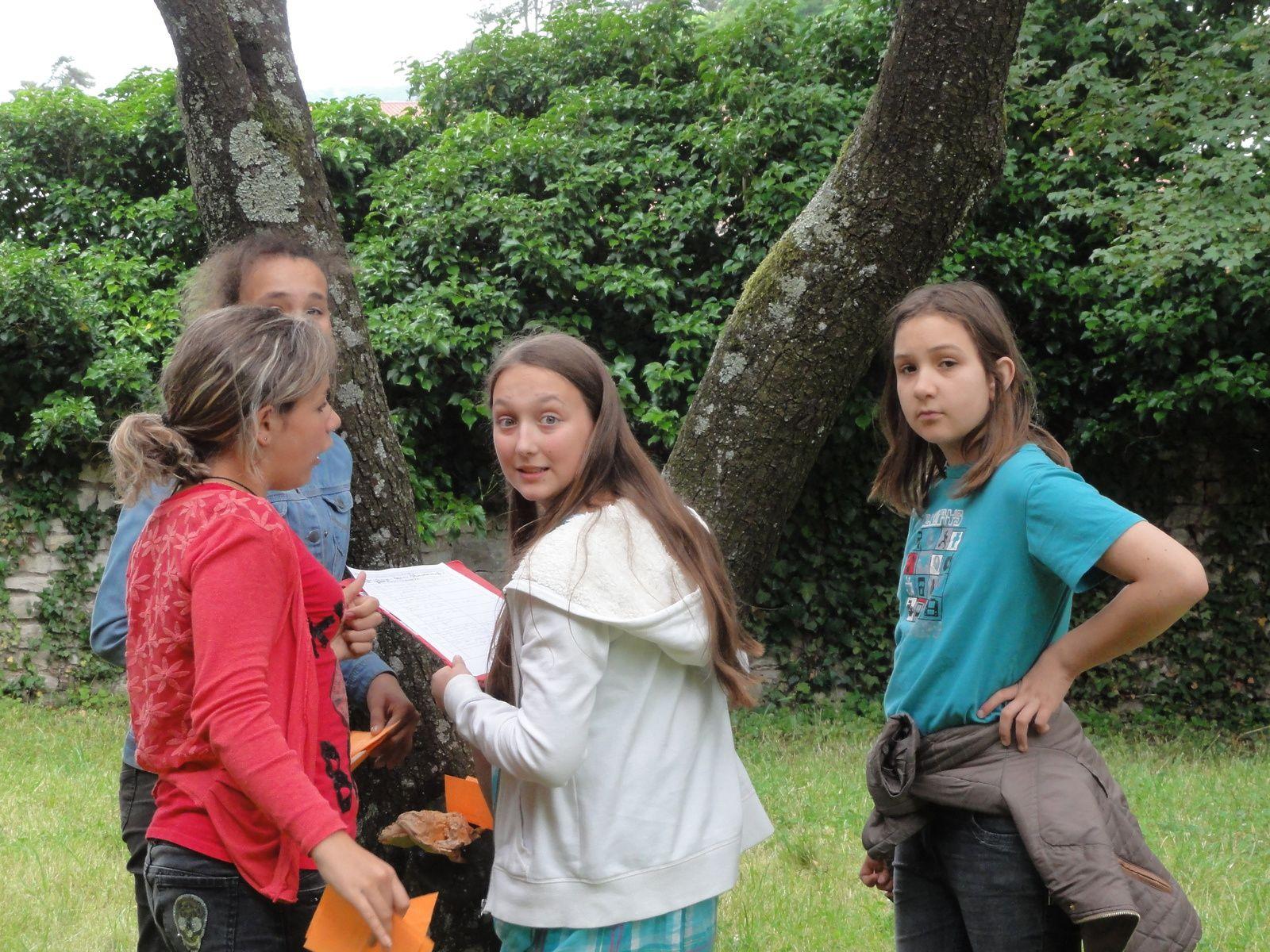 Journée du 23 juin 2015 entre les 5° latin et les CP-CE2 des sapins