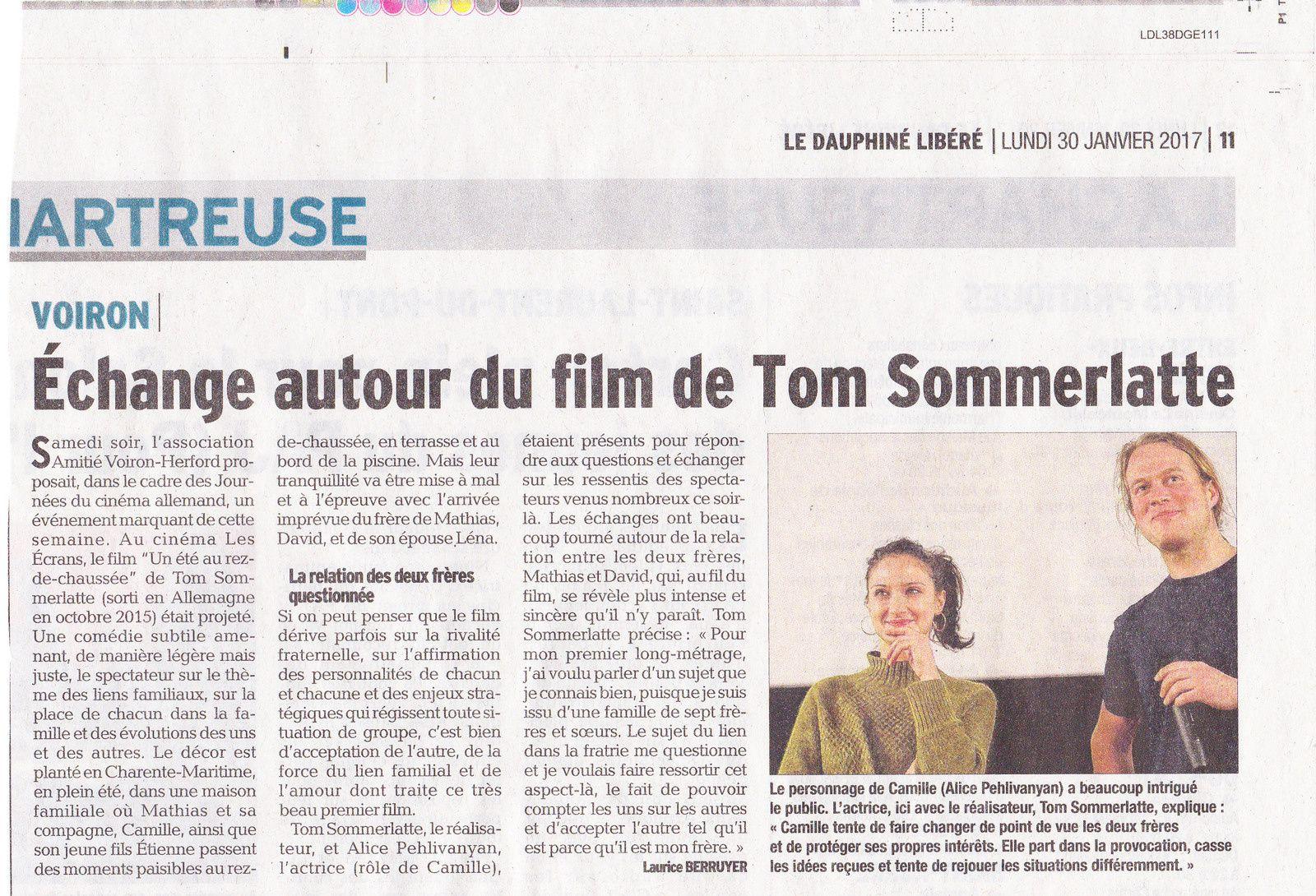Les 9es Journées du Cinéma Allemand de Voiron vues par la presse