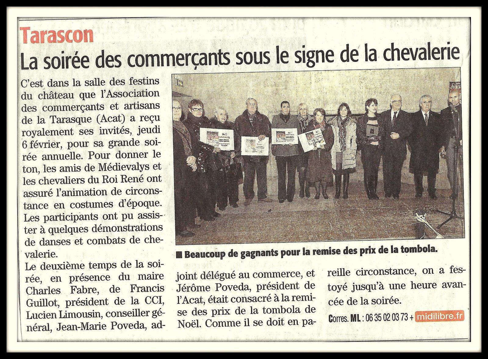 Articles de presse quotidienne régionale de l'Association des Commerçants & Artisans de la Tarasque