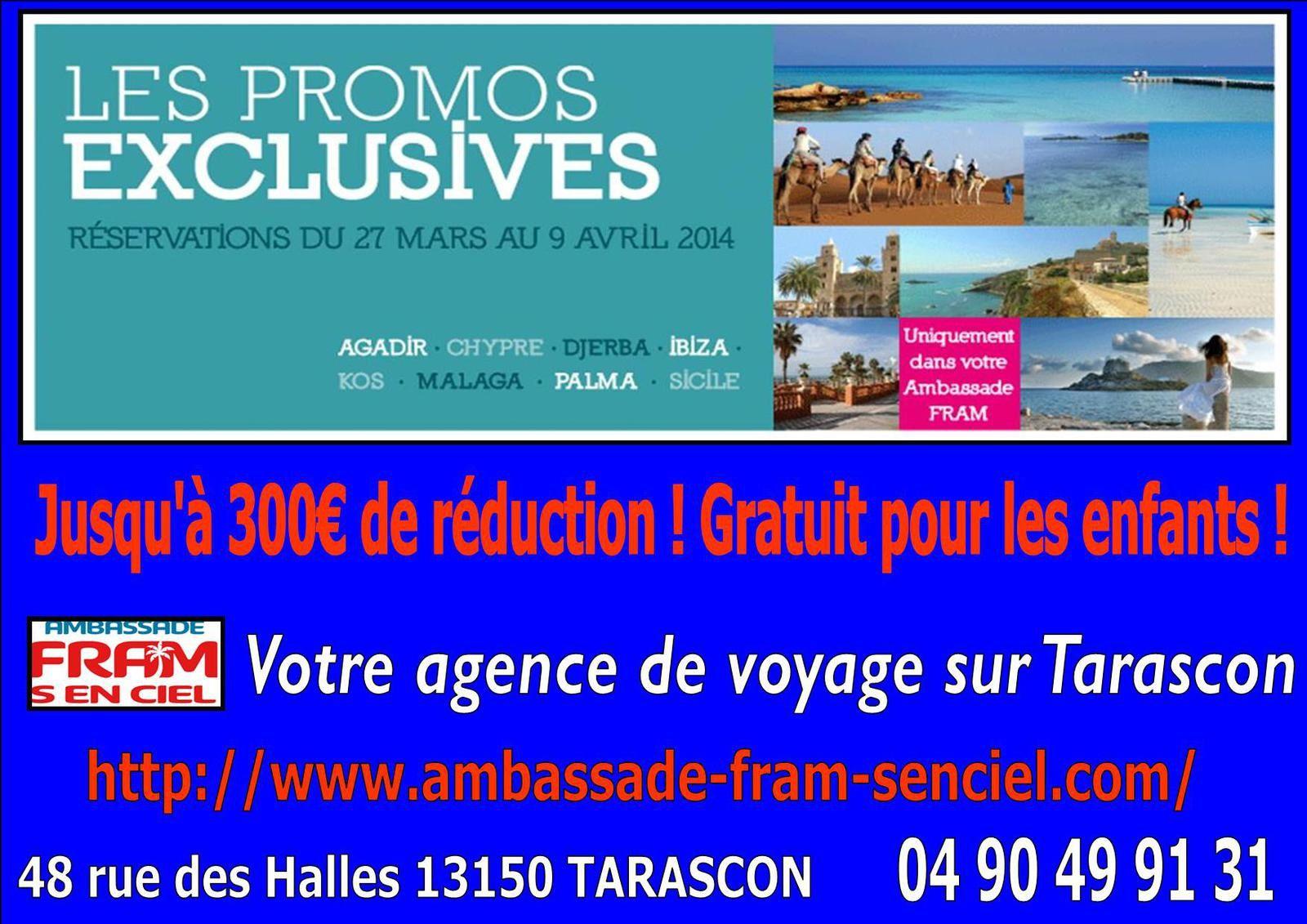 Votre agence de voyage sur Tarascon, rue des Halles. Venez vous renseigner !!