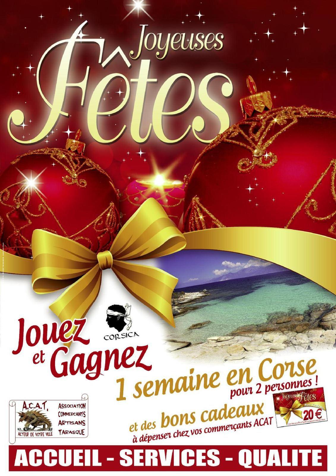 Gagnez aussi 1 semaine en CORSE et des centaines d'€ de bons cadeaux avec l'A.C.A.T.