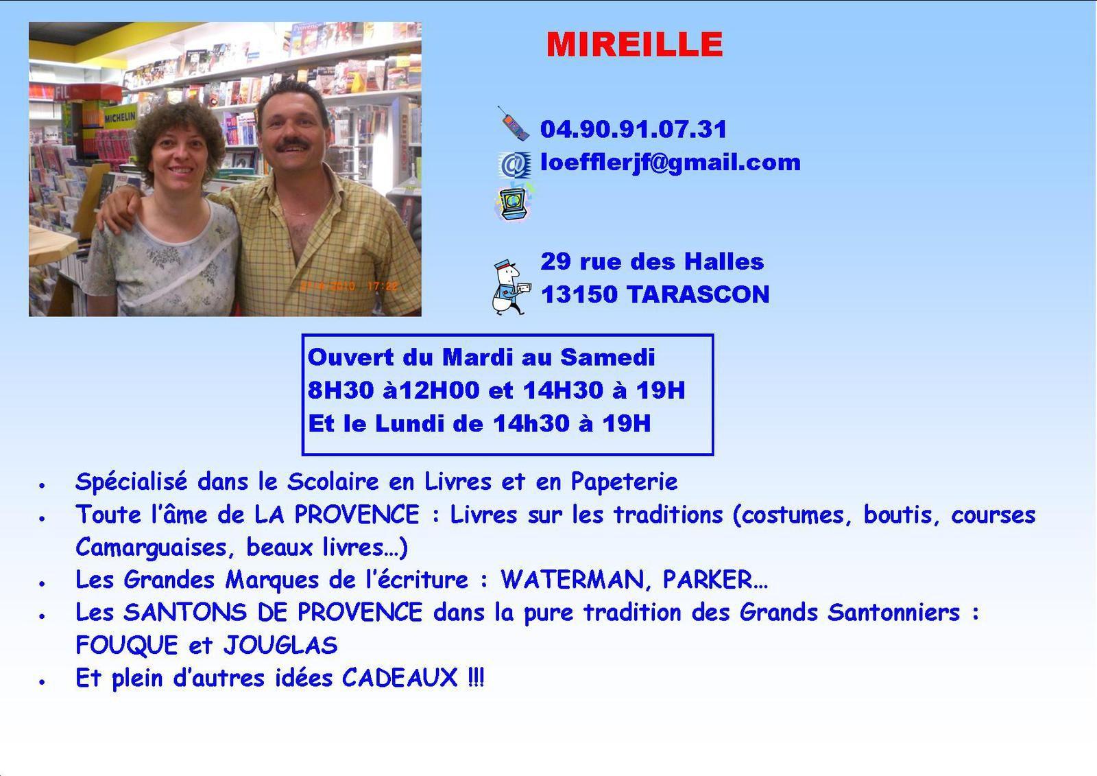 La Librairie Mireille à Tarascon