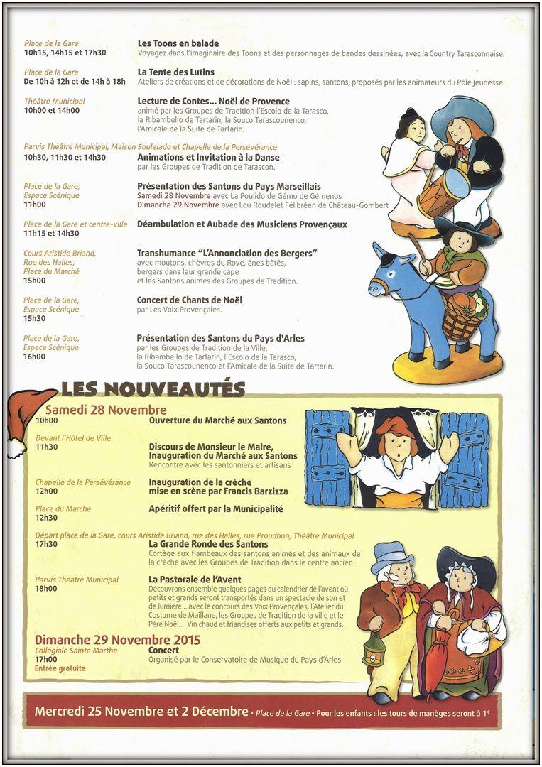 Le programme des fêtes de Tarascon : LE MARCHE AUX SANTONS / LE MERVEILLEUX NOËL DES ENFANTS