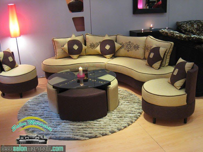 Salon moderne beige marron 2014 salon marocain moderne 2014 for Salon moderne beige marron