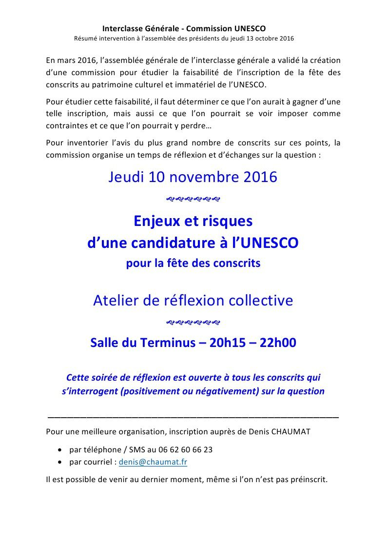 invitation UNESCO / blog Interclasse en &quot&#x3B;7&quot&#x3B;