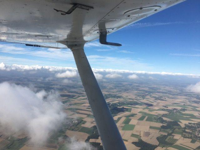 Notre Cessna 172 visite Berck sur Mer avec Franck