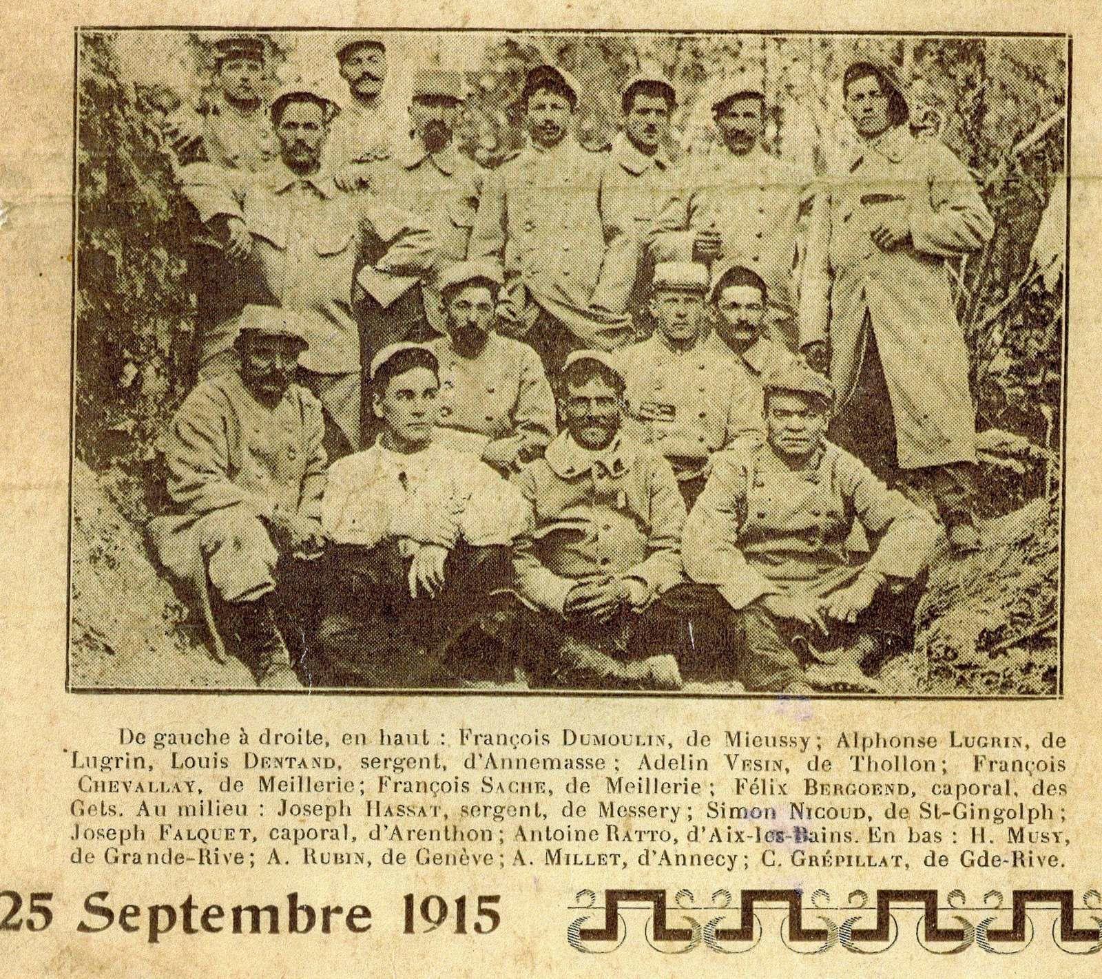 Photo de poilus Savoyards 1915