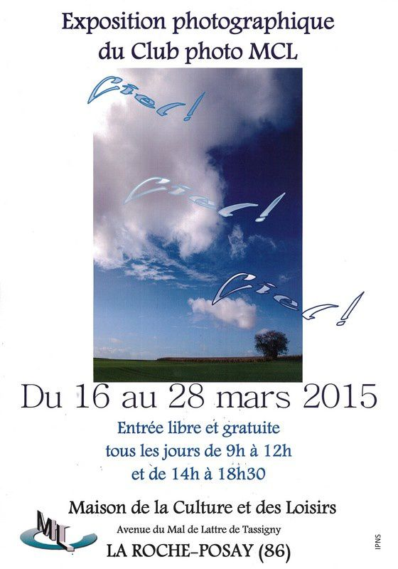 16 au 28 MARS 2015 : EXPO PHOTOS A LA ROCHE-POSAY
