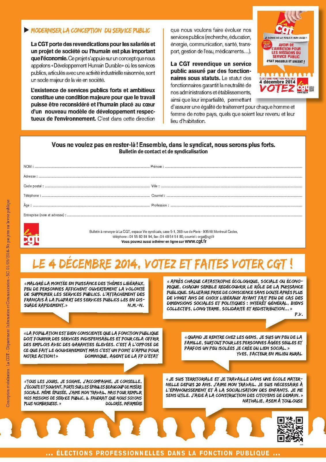 AVOIR DE L'AMBITION POUR LES MISSIONS DU SERVICE PUBLIC: